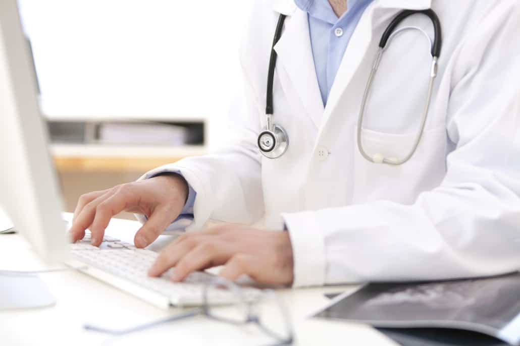 Doctor adding to patient recruitment database