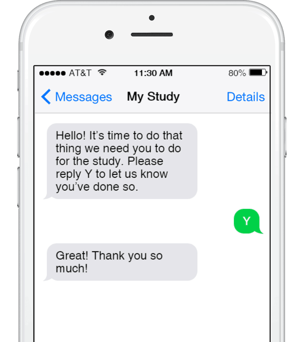 Improve research subject compliance with Mosio text messaging software